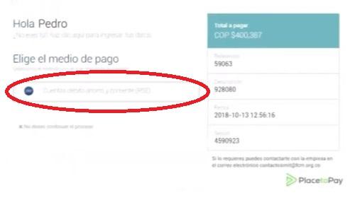 medio de pago multas infracciones transito colombia